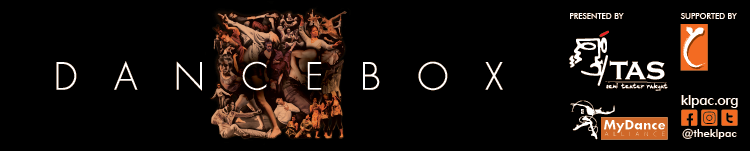 Dancebox banner image, with logos of TAS, MyDance and klpac.